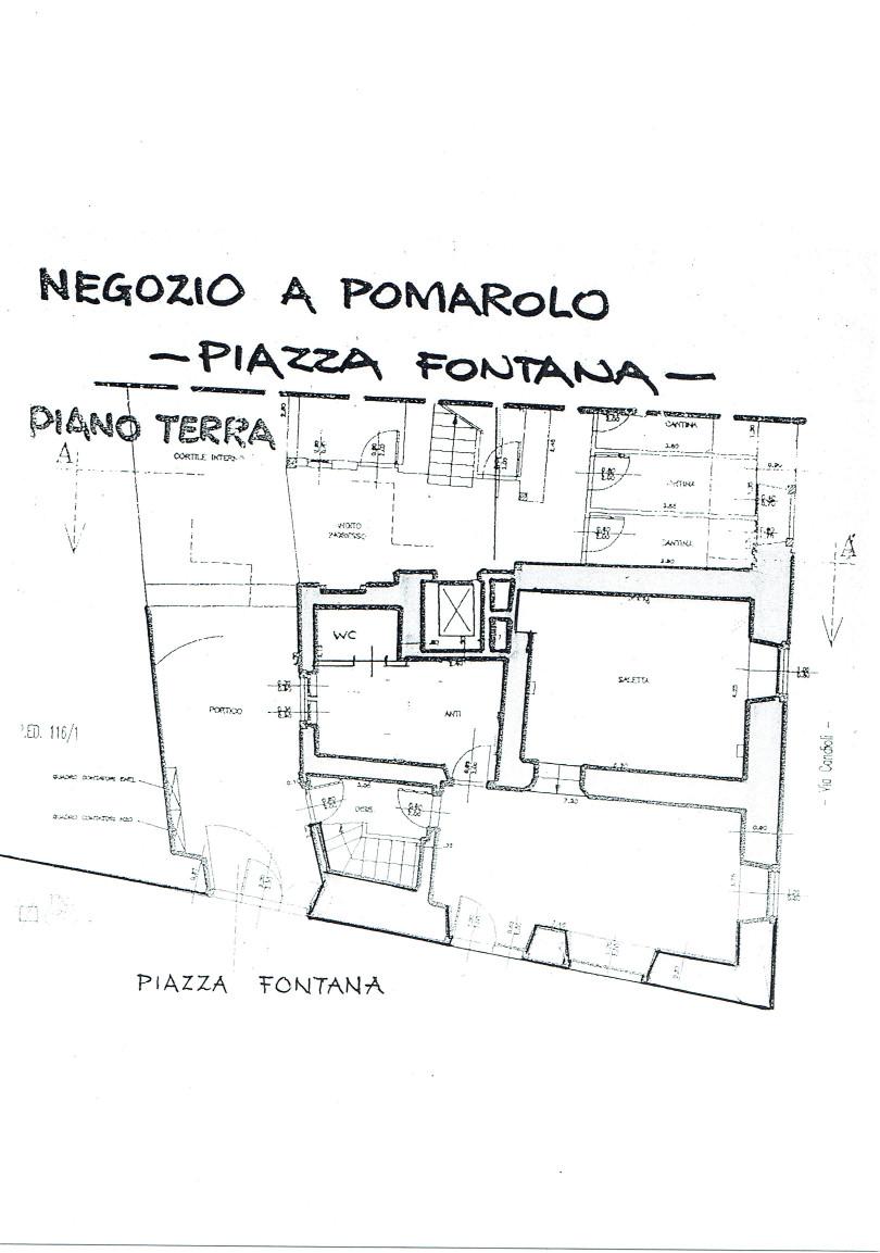 Negozio | Pomarolo, Piazza Fontana